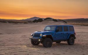 Фотографии Jeep SUV Синий 2021 Wrangler Unlimited Rubicon 392 Автомобили