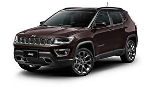 Фото Jeep Коричневые Металлик Белым фоном Кроссовер Compass S Latam (MP), 2019 -- Автомобили