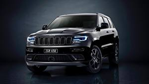 Фотографии Jeep Черные Металлик Grand Cherokee Limited 2019 Grand Cherokee S Машины