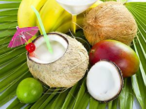 Фотография Сок Авокадо Кокосы Зонт Пища