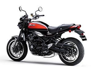Фото Kawasaki Белым фоном Z900RS, 2018 мотоцикл