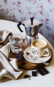 Обои для рабочего стола Чайник Кофе Шоколад Чашка Стакана Пища