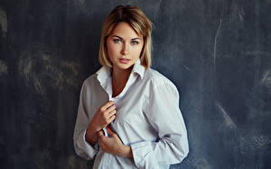 Обои Рука Рубашке Смотрит Kristina, Evgeniy Bulatov девушка