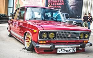 Обои Лада Российские авто Стайлинг Красный 2106 Автомобили