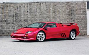 Картинка Ламборгини Красная Металлик Родстер 1999-2000 Diablo VT Roadster