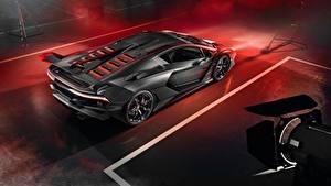 Обои Ламборгини Углепластик 2018 Aventador SC18 Alston Автомобили
