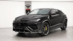 Обои Lamborghini Черный 2018 TopCar Urus Машины