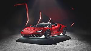Обои Lamborghini Красная Centenario авто