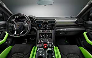 Обои Ламборгини Салоны Автомобильный руль Urus, Pearl Capsule, 2020 автомобиль