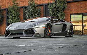 Картинка Ламборгини Тюнинг Роскошные Родстер 2014-16 Vorsteiner Lamborghini Aventador-V Roadster Zaragoza Автомобили