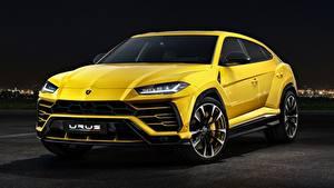 Обои Lamborghini CUV Желтых Металлик Urus Concept, SSUV, 2017 авто