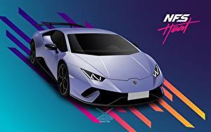 Обои Ламборгини Векторная графика Need for Speed Heat, Huracan 2019 by Suman094 компьютерная игра Автомобили