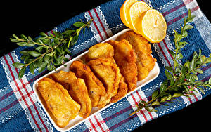 Фото Лимоны Ветки fish in batter Продукты питания