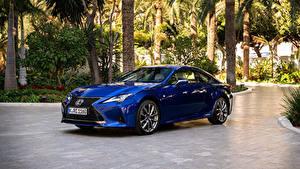 Обои Лексус Синяя Металлик 2018-19 RC 300h F SPORT Worldwide авто