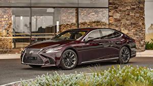 Обои для рабочего стола Lexus Бордовый Металлик 2019-20 LS 500 Inspiration Series машины