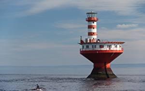 Картинки Маяк Канада Lighthouse Tadoussac