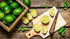 Обои Лайм Доски Разделочная доска Зеленые Листва Продукты питания
