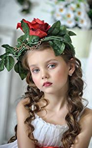 Картинки Девочки Лицо Смотрит Волосы Ребёнок
