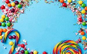 Обои Леденцы Конфеты Сладости Драже Шаблон поздравительной открытки