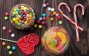 Фотография Леденцы Мармелад Банке Candy cane Еда