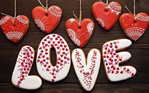 Фото Любовь Печенье День святого Валентина Сердечко