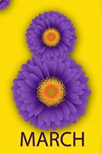 Фотографии 8 марта Герберы Английская Цветы