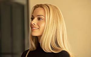 Обои Марго Робби Блондинок Взгляд Прически Знаменитости Девушки