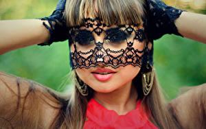Картинки Маски Губы Мейкап Лицо девушка