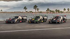 Обои McLaren Тюнинг Втроем Черных Металлик 2018-20 Senna машина