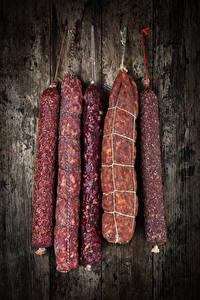 Фотография Мясные продукты Колбаса Продукты питания