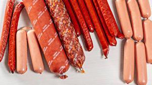 Обои для рабочего стола Мясные продукты Колбаса Сосиска Еда