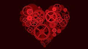 Картинка Механик День всех влюблённых Оригинальные Сердечко Шестерня