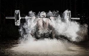 Фотографии Мужчины Штанга Тренировка Вид Спорт