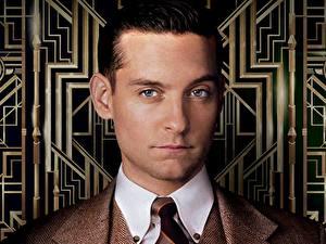 Фото Мужчины Взгляд Лицо Красивые Tobey Maguire New York Кино Знаменитости