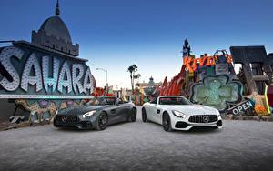 Фотографии Mercedes-Benz Двое Кабриолет Родстер 2016 AMG GT Roadster