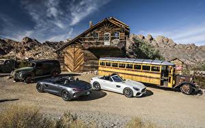 Фото Мерседес бенц Вдвоем Кабриолет Родстер 2016 AMG GT Roadster