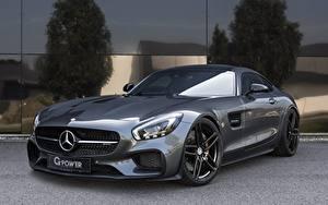 Фотография Mercedes-Benz Серый AMG C190 GT-Class машины