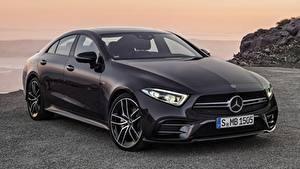 Картинка Mercedes-Benz Черный Седан Металлик AMG, CLS, 53 4MATIC, 2018 машины