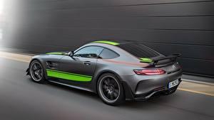 Обои Мерседес бенц Едущий Серый AMG PRO GT R 2019