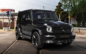 Обои для рабочего стола Мерседес бенц G-класс Внедорожник Черный 2019 Manhart G 700 Inferno Автомобили