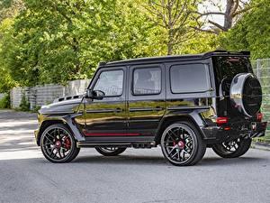 Обои Mercedes-Benz Гелентваген Стайлинг Черный Металлик SUV Сбоку Lumma Design, G770 машина