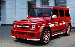 Картинки Mercedes-Benz G-класс Красный Hamann AMG G-Class W463
