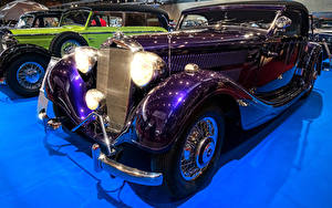 Обои Mercedes-Benz Ретро Фиолетовый Металлик 1938 320 A авто