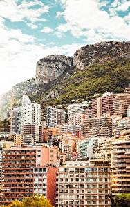 Фотографии Монако Монте-Карло Здания Горы Города