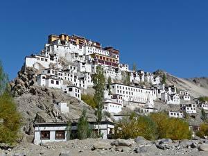 Фотография Монастырь Индия Гора Lamayuru monastery, Ladakh Города