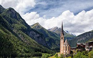 Фотография Гора Австрия Церковь Heiligenblut, Carinthia Города