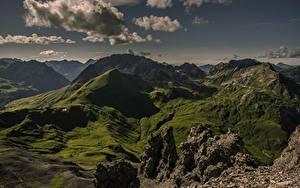 Обои для рабочего стола Горы Австрия Облака Tirol, Ausserfern Природа