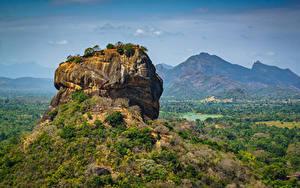 Картинки Горы Шри-Ланка Скале Sigiriya, Pidurangala, Matale District