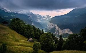 Картинки Горы Швейцария Wengen, Lauterbrunnen