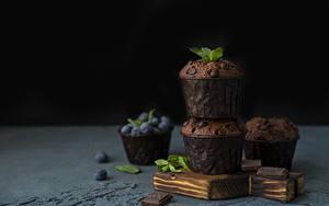 Картинка Маффин Кекс Шоколад Черника